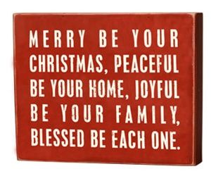 """Merry Be Your Christmas"" sign"
