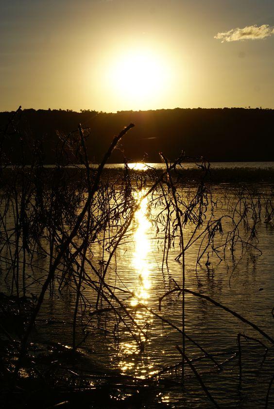 Por do Sol na represa de Nova Ponte - MG