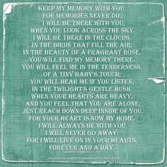 grieving poems - Google Search