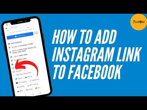 How To Add Instagram Link To Facebook Link Instagram Account To Fb Profile Youtube Fb Profile Instagram Accounts Instagram