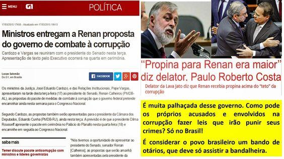 EDGAR RIBEIRO: KKKKKKK: Ministros entregam a Renan proposta do go...