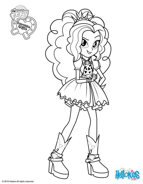 Colouring pages, Equestria girls and My little pony on Pinterest