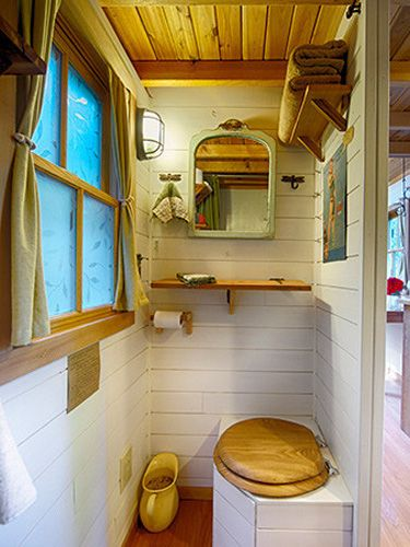 Toilets good housekeeping and tumbleweed tiny house on for Good housekeeping bathrooms