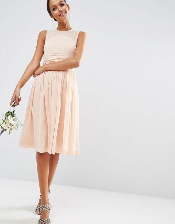 asos wedding robe mi longue rose pale pour demoiselle d 39 honneur id es mariage pinterest. Black Bedroom Furniture Sets. Home Design Ideas