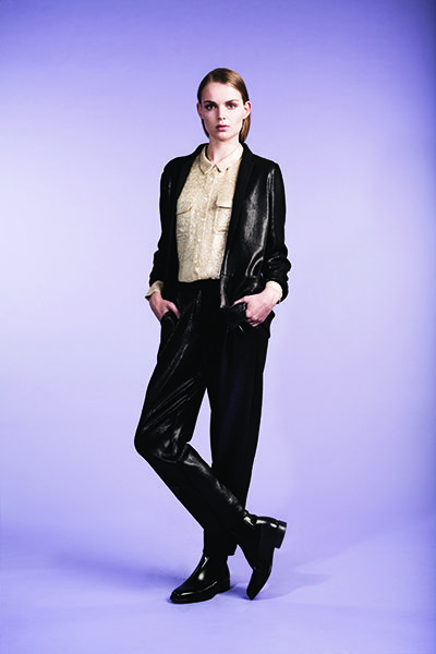 Whistles Limited Edition, Lurex Blouse | Eliza Sequin Jacket | Eliza Sequin Trousers