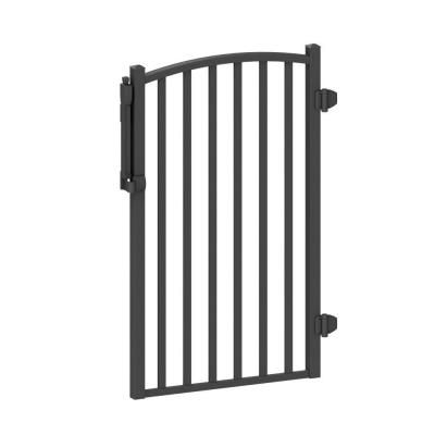 Peak Aquatineplus 3 Ft X 4 Ft Black Aluminum Fence Pool Gate 57163 The Home Depot In 2020 Aluminum Fence Gate Aluminum Fence Fence Gate