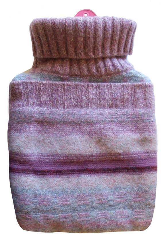 MOS MEA: Tutorial: copri borsa dell'acqua calda riciclando vecchi maglioni - cover an hot water heater recycilng an old sweater: