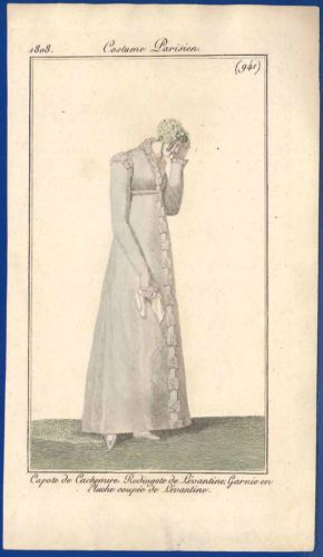 Regency-fashion-print-mourning-antique-1808-Costume-Parisien