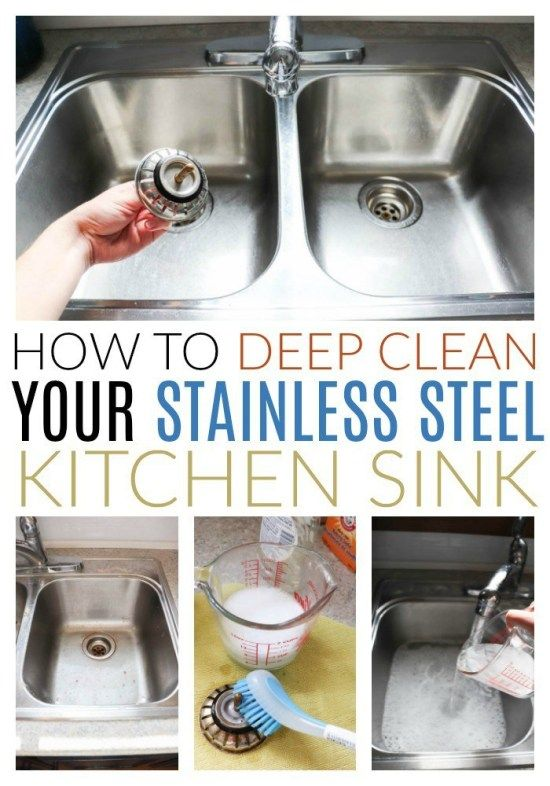 How To Clean A Stainless Steel Sink With Images Stainless