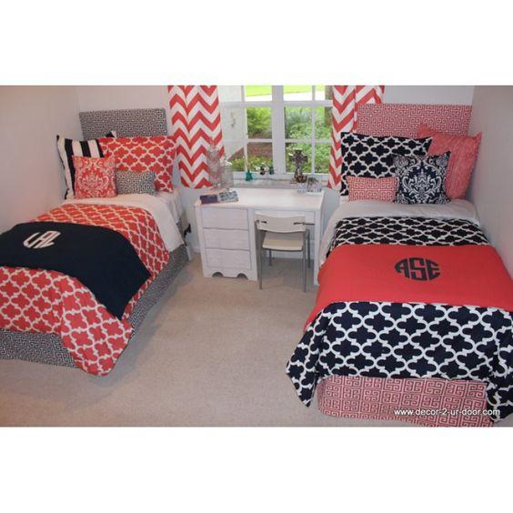 Design Your Own Dorm Txl Bed Scarf Custom Bed Runner
