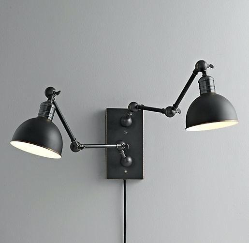 Swing Arm Wall Lamps, Double Swing Arm Wall Light