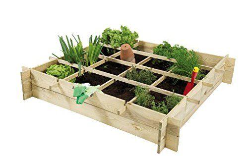 Pur Garden 8711615146831 Potager Pin Anafi Bois Naturel 120 X 120 X 20 Cm Carre Potager Jardinerie Truffaut Potager Bois
