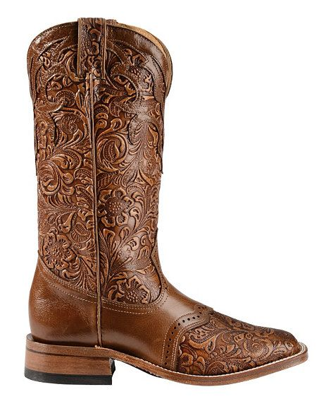 Boulet Hand Tooled Belmont Cowgirl Boots - Square Toe | Feet