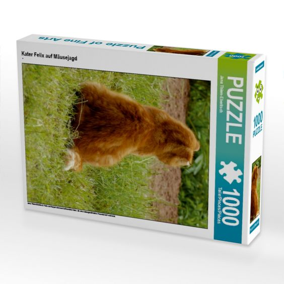 Kater Felix auf Mäusejagd (Foto-Puzzle)