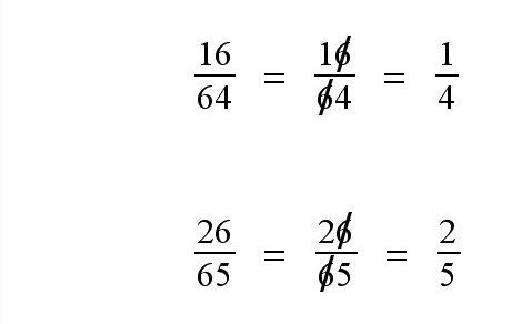 Why didn't anyone know about this when I learned how to reduce fractions?: Math Fractions, How To Teach Fractions, Fractions Trick, Teaching Math, Easy Fractions, Reducing Fraction, Simplifying Fraction, Education Math