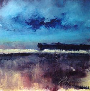 "Blue Contempo #3 by Richard Morin Oil ~ 12"" x 12"""