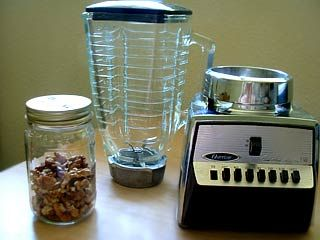 How to use a mason jar with your blender to whip or chop things right into the jar.