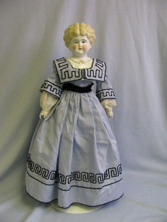 """Early Antique Porcelain Dolls   China Head Doll Ruth   22"""" Early Pet Name """"RUTH"""" China head Doll ..."""