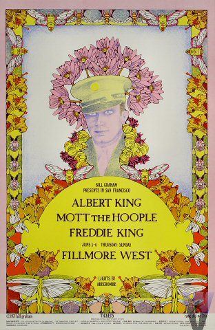Classic Poster - Albert King at Fillmore West 6/3-6/71 by Willyum Rowe