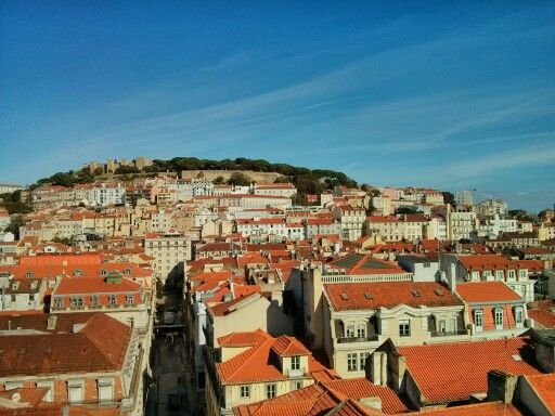 View of Lisboa from Santa Justa Elevator, Portugal