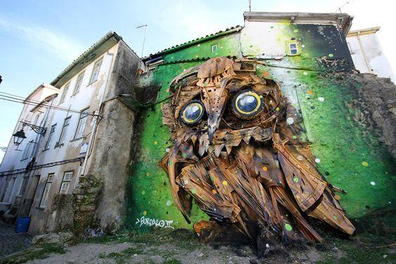 Artur Bordalo. El artista que convierte basura en arte callejero.