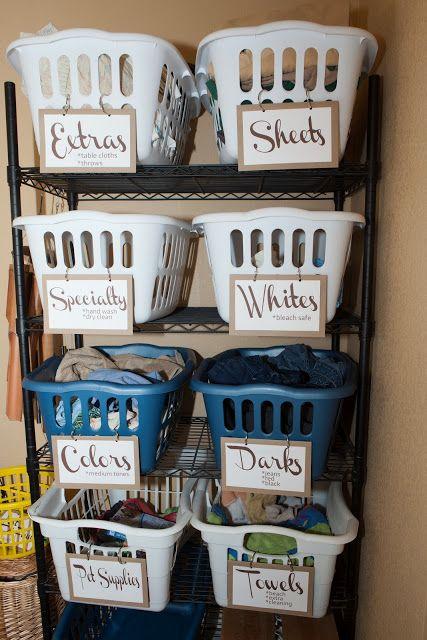 Rockin el nido vacío !: lavandería Organización de habitaciones