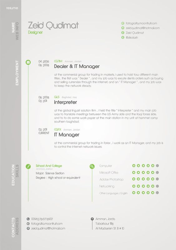 The 40 Most Creative Resume Designs Ever - Creatief cv, Cv en Creatief - popular resume format