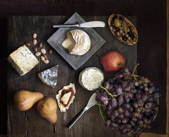 Have Friends Over For Dinner. Cheeses, nuts, and dried fruits are quick and elegant appetizers to serve with wine.