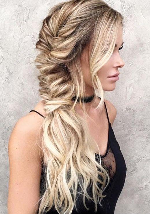 Tight side fishtail braid