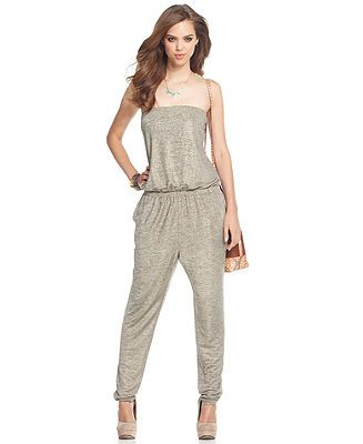 RACHEL Rachel Roy Jumpsuit, Strapless Straight-Neck Relaxed ...