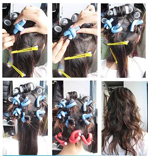 42 Pack Magic Twist Flex Flexi Rods Foam Hair Curlers Walmart Com Twist Curls Foam Rollers Hair Hair Rollers