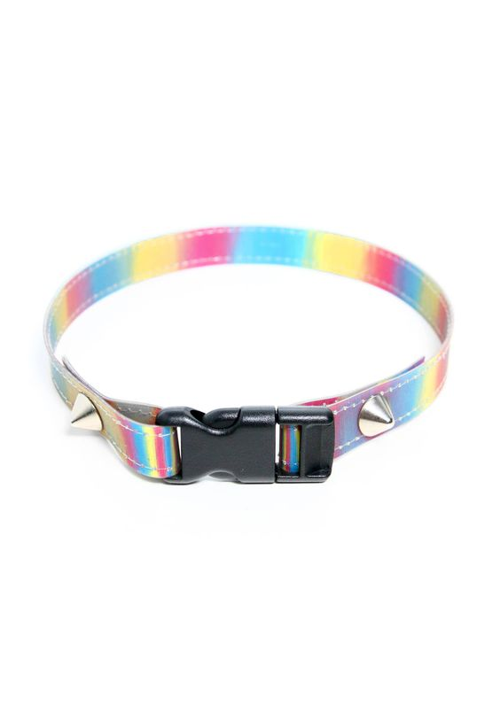 RAINBOW HOLOGRAPHIC CHOKER - product images 3 of 4