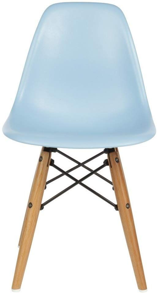 Meubles House Light Blue Eames Style Side Chair Natural Wood Legs Kids Chair Amazon Ca Home Kitchen In 2020 Chair Ikea High Chair Kids Chairs