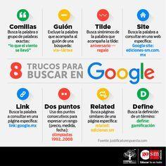 Hola: Una infografía con 8 trucos para buscar en Google. Un saludo