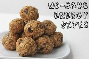 No bake energy bites:    •1 cup oatmeal  •1/2 cup peanut butter (or other nut butter)  •1/3 cup honey  •1 cup coconut flakes  •1/2 cup ground flaxseed  •1 scoop chocolate Shakeology  •1 tsp vanilla