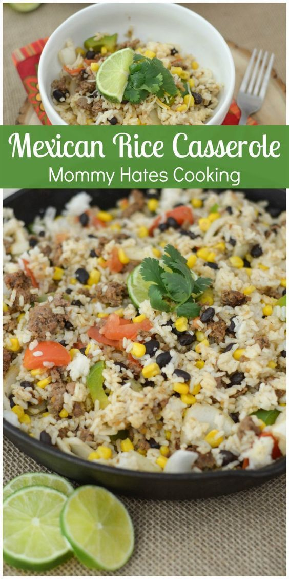 Mexican Rice Casserole & Cinco de Mayo Recipes - Mommy Hates Cooking