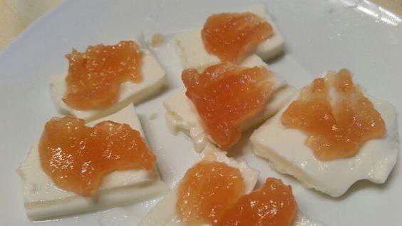 Y de postre un poquito de queso blanco con membrillo casero, q delicia!! No wncuentro el final jajaja