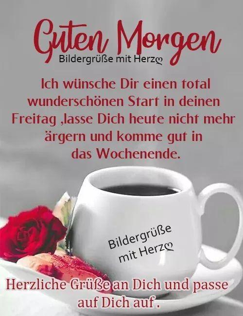 Guten morgen freitag kaffee