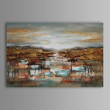 pintura a óleo moderna sunrise paisagem abstrata mão canvas, com quadro esticado pintados de 2413806 2016 por R$281,90