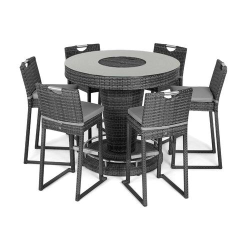 Sol 72 Outdoor 6 Seater Bar Set With Cushions And Ice Bucket