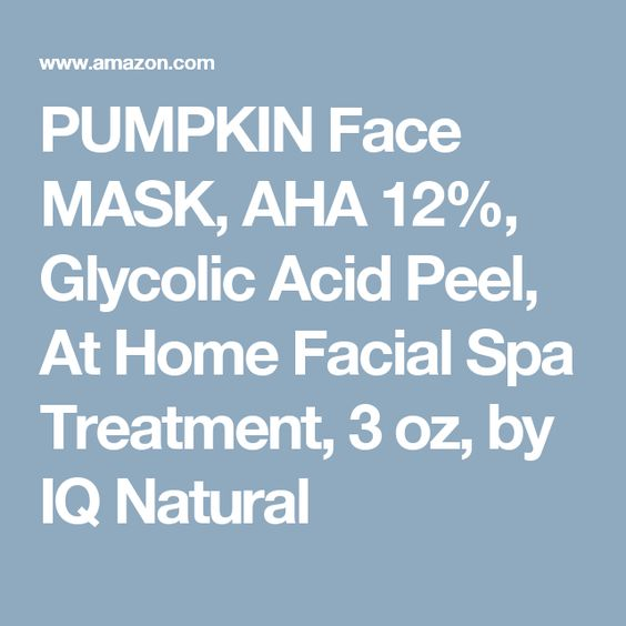 PUMPKIN Face MASK, AHA 12%, Glycolic Acid Peel, At Home Facial Spa Treatment, 3 oz, by IQ Natural