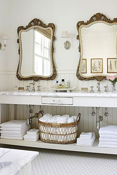 An easy summer cleaning tip for towels? Wash towels in hot water and toss 1/2 cup of baking soda into the rinse cycle to eradicate stale scents. #moldytowels #summercleaning #bathroomcleaning #bhg