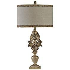 Margarita Hand-Carved Wagner Floral Table Lamp