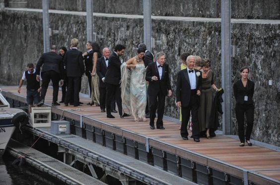 Gli invitati al party di matrimonio di Pierre Casiraghi