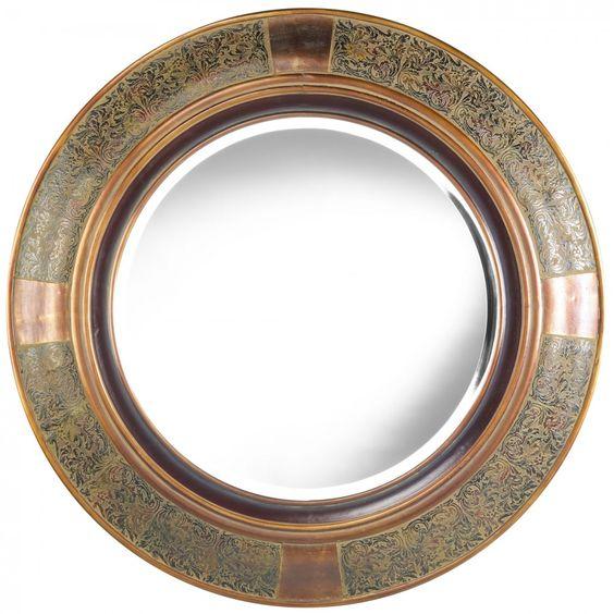 Cooper Classics Elliott Wall Mirror in Aged Copper - 4802