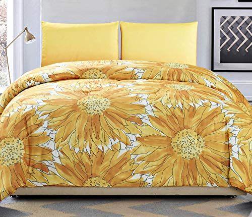 Vera Neumann Autumn Golden Yellow Fall Harvest Sunflowers King Size 3pc Duvet Set Comforter Or Quilt Cover Duvet Sets Quilt Cover Comforters