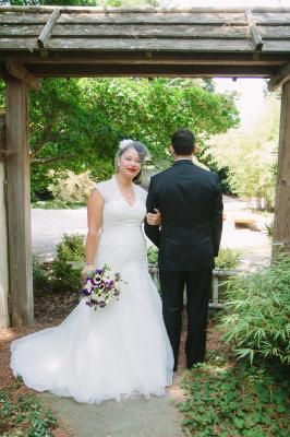 """""""WOW! I must say, I looked over this style when I was on the website looking for my wedding gown. But, it was on the mannequin in the store and I was getting desperate. So I had my consultant pull the dress in my size (14) and I literally cried when I saw myself in it. I knew that this was the one! """" - DB Reviewer Melangel on Melissa Sweet Cap Sleeve Trumpet Lace Gown Style MS251005"""