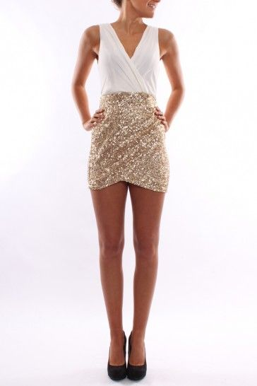 Midnight Shimmer White - Dresses - Shop by Product - Womens