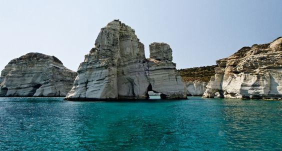 Kleftiko blue caves in Milos