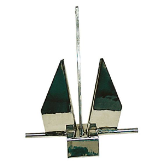 Ancla Danforth Inox 20kg, Ancla Náutica Inox modelo Danforth de Fabricación Europea. ancla para fondeo de embarcaciones deportivas, fabricada en acero inoxidable marino, con terminación tipo espejo. Máximas prestaciones de un ancla de fabricación Europea.